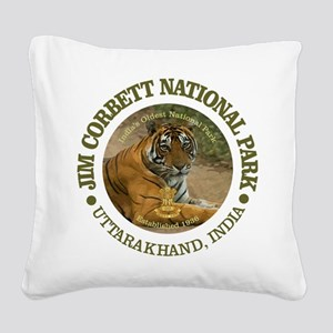 Jim Corbett National Park Square Canvas Pillow