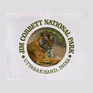 Jim Corbett National Park Throw Blanket