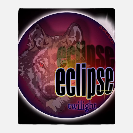 eclipse wolf shadow large copy Throw Blanket