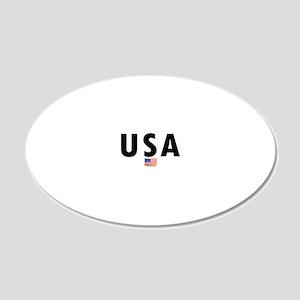 2-USA-OVAL 20x12 Oval Wall Decal