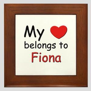 My heart belongs to fiona Framed Tile