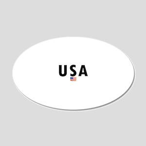 3-USA-OVAL 20x12 Oval Wall Decal
