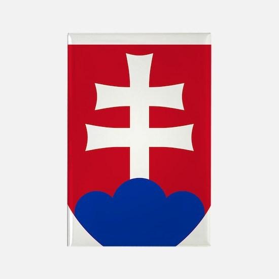 SlovakiaCoat1Bk Rectangle Magnet