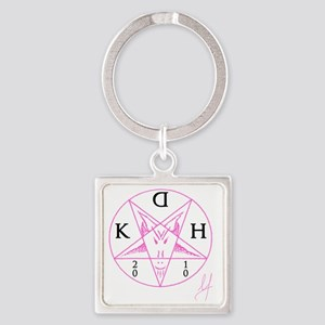 10x10_apparel(pink) Square Keychain