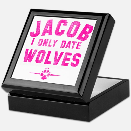 only date wolves-pb Keepsake Box