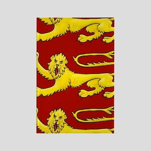 lion passant for cards etc Rectangle Magnet