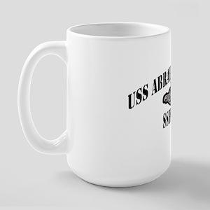 alincoln black letters Large Mug