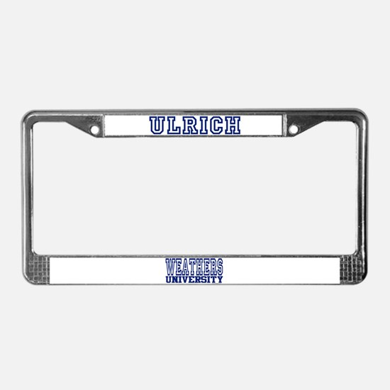 ULRICH University License Plate Frame