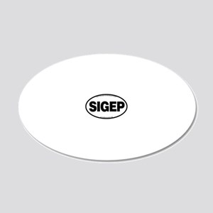 SIGEP 20x12 Oval Wall Decal