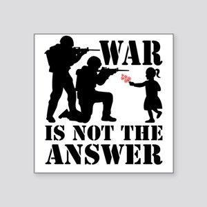 "war is not the answer rev Square Sticker 3"" x 3"""