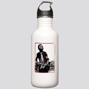 hate and war image cop Stainless Water Bottle 1.0L