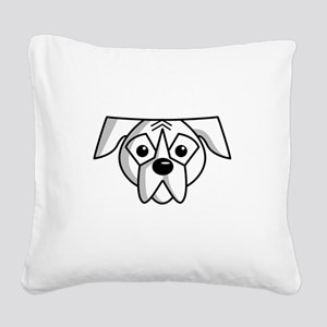 SS_Boxers-Rule-White-d... Square Canvas Pillow