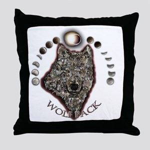 WolfPackCollage10x10 Throw Pillow