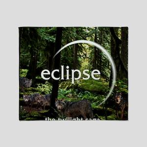 Eclipse Hidden Wolfes Throw Blanket