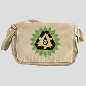 oil_spill_point_skull_03 Messenger Bag