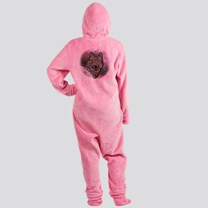 2-WolfPackCollageA10x10 Footed Pajamas