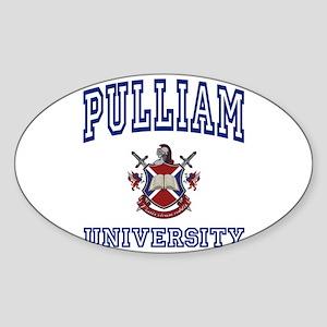 PULLIAM University Oval Sticker