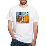 Golden Retriever White T-Shirt