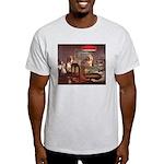 Ash Grey T-Shirt (poker dog)