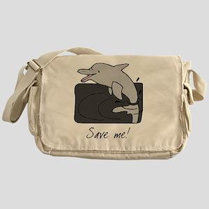 dolphinjump-save Messenger Bag