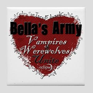 Bellas Army Tile Coaster