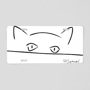 2-CatStare Aluminum License Plate