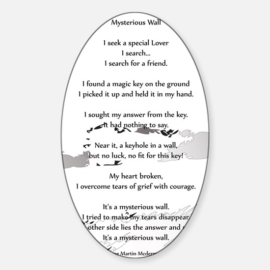 Mysterious Wall 16x20 Sticker (Oval)