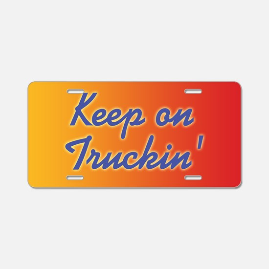 keep-on-truckin_b Aluminum License Plate