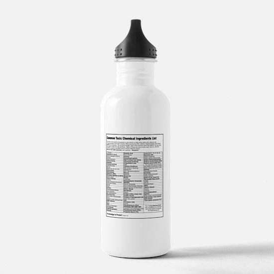 got-toxins-back-black Water Bottle