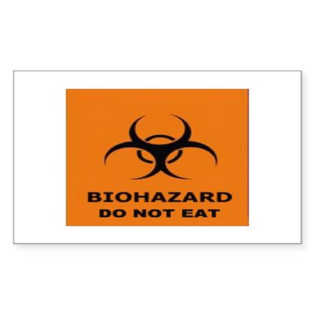 Biohazard Rectangle Sticker