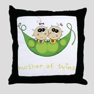 Mother of Twins, Girl/Girl Throw Pillow