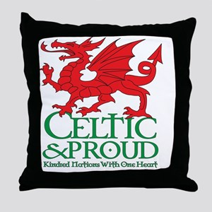CelticProud_Cymru_T10x10 Throw Pillow