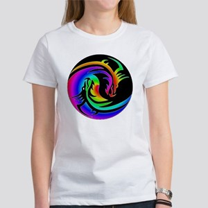 Zen rainbow dragons 11x11 Women's T-Shirt
