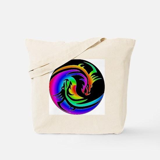 Zen rainbow dragons 11x11 Tote Bag