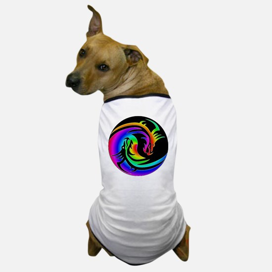 Zen rainbow dragons 11x11 Dog T-Shirt