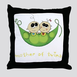 Mother of Twins, Boy/Girl Throw Pillow