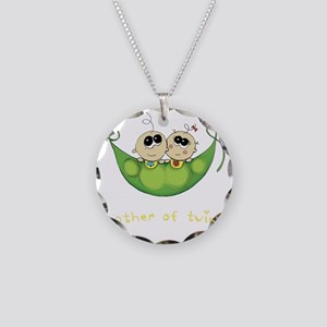 Mother of Twins, Boy/Girl Necklace Circle Charm