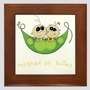 Mother of Twins, Boy/Girl Framed Tile