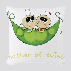 Mother of Twins, Boy/Girl Woven Throw Pillow