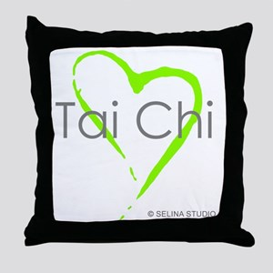 taichi heart - middle Throw Pillow