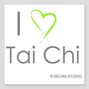 "I love taichi - middle Square Car Magnet 3"" x 3"""