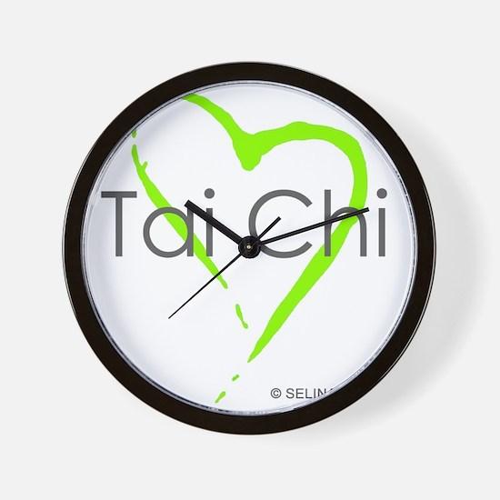 taichi hearti Wall Clock