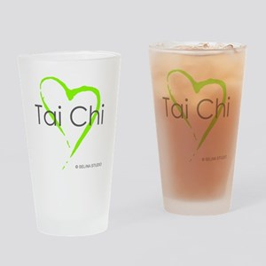 taichi hearti Drinking Glass