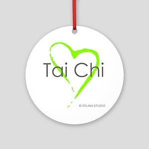 taichi hearti Round Ornament
