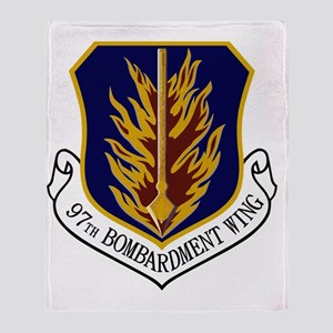 2-97th Bomb Wing Throw Blanket