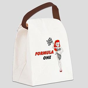 F1ovalsticker Canvas Lunch Bag