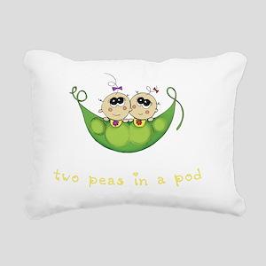 Two Peas in a Pod_Girl/G Rectangular Canvas Pillow