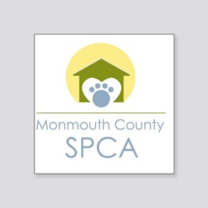 "THE Monmouth County SPCA LO Square Sticker 3"" x 3"""