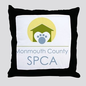 THE Monmouth County SPCA LOGO Throw Pillow