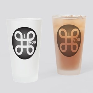 i Command you Drinking Glass